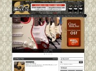 Guitar shop Hoochies webサイト